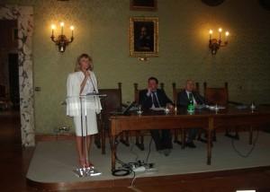 Flaminia Sacca', Presidente Filas Spa con Bruno Manzi, Assessore all'Innovazione, Provincia di Roma